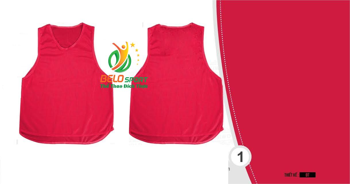 Áo lưới team building, áo tập bóng đá cao cấp màu đỏ