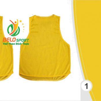 Áo lưới team building, áo tập bóng đá cao cấp màu vàng đậm