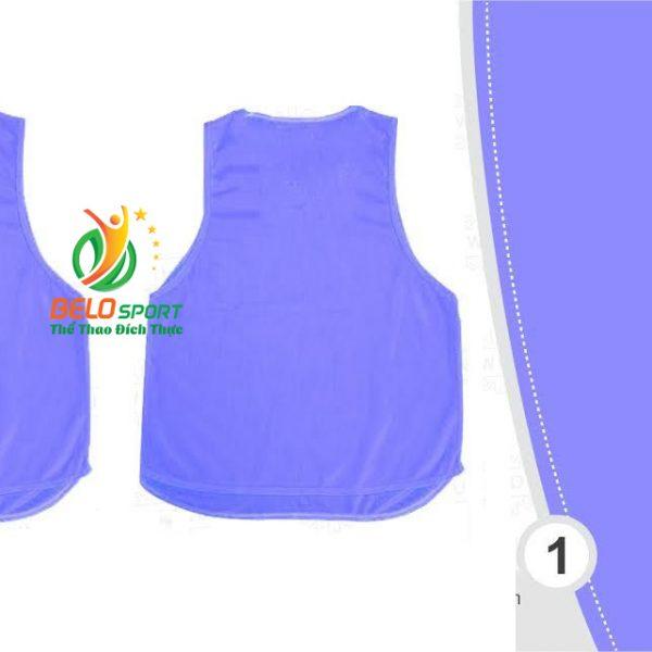 Áo lưới team building, áo tập bóng đá cao cấp màu xanh nhạt
